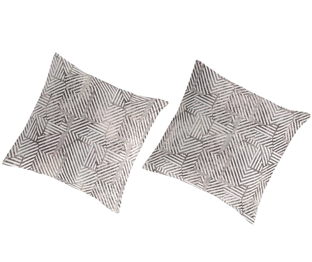Set 2 fete de perna Percale Rahin Dark Grey - Guy Laroche Home, Gri & Argintiu