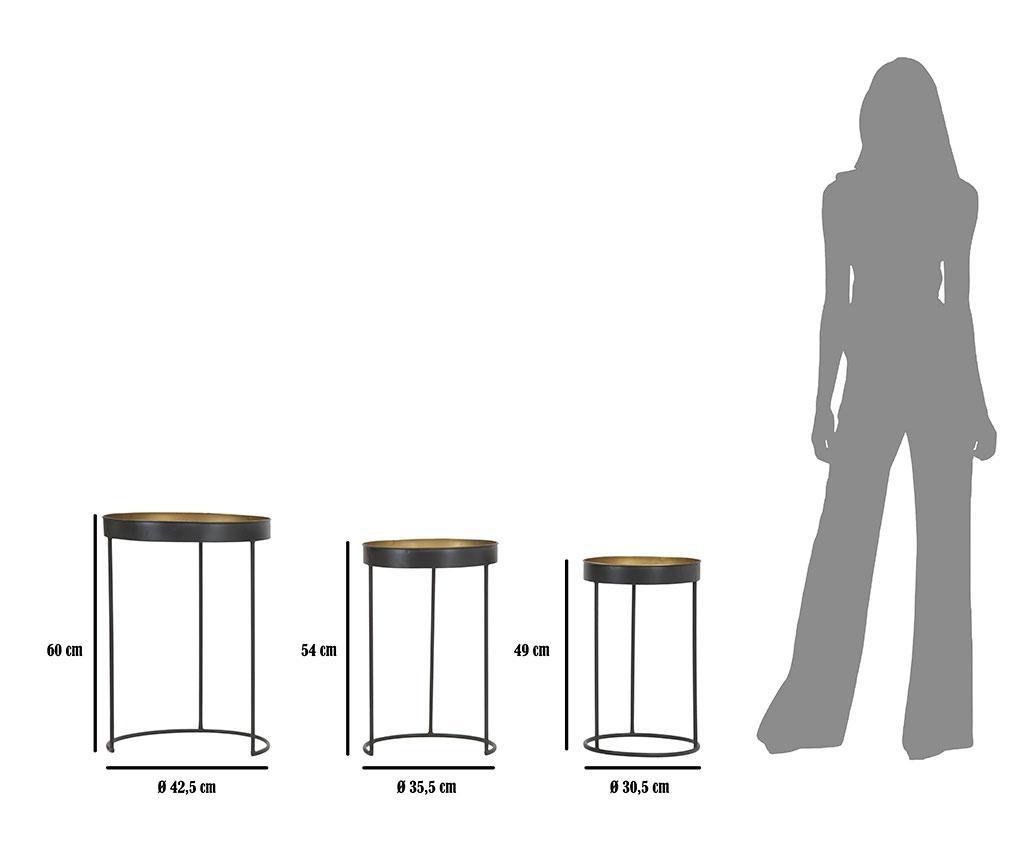 Sada 3 konferenčních stolků Opis Tall