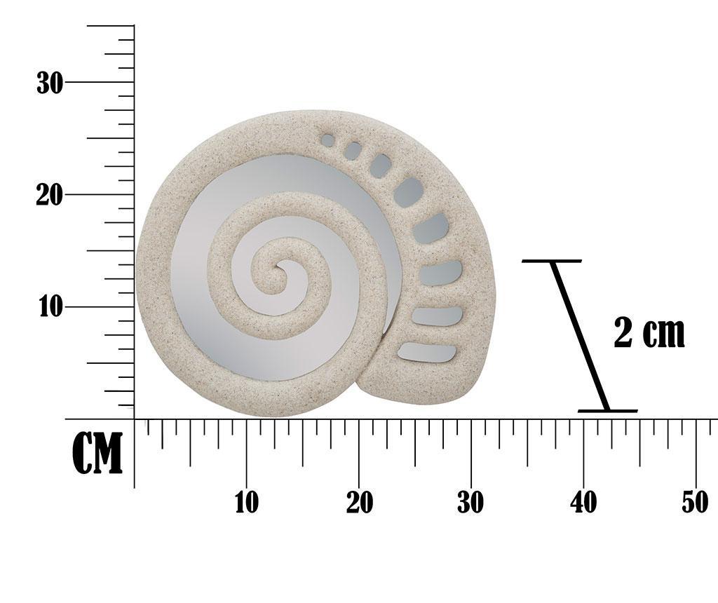 Shell Dekoráció tükörrel