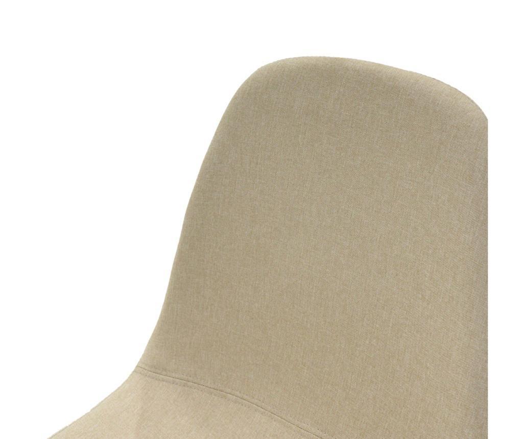 Stolica Bella Fabric Beige Oak Legs