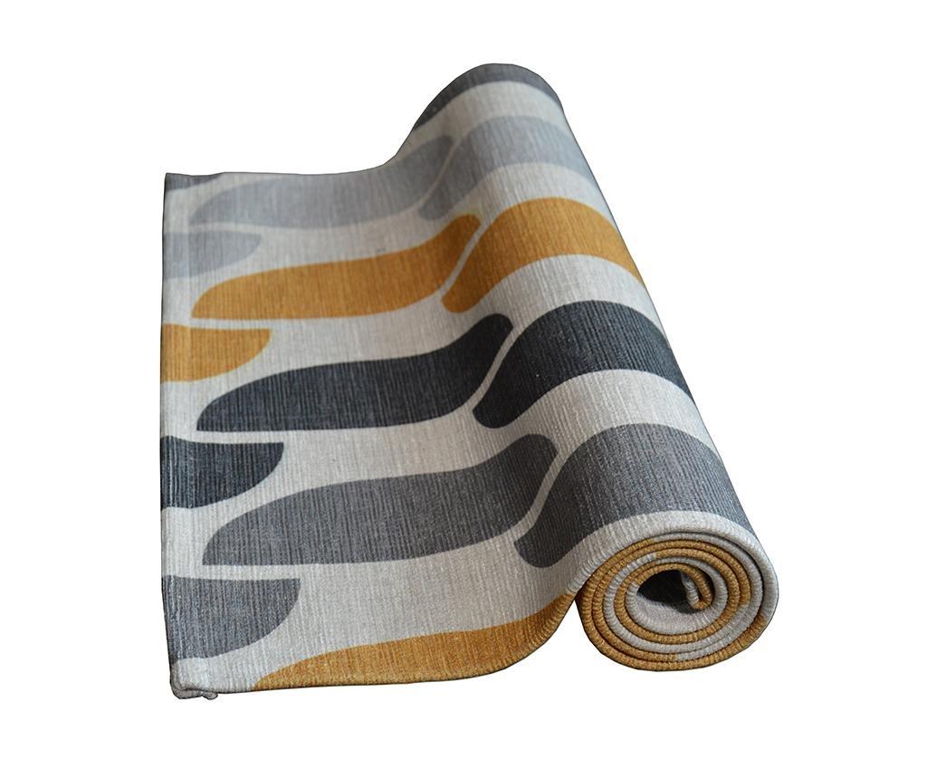 Koberec Halfmoon Grey Ochre 60x240 cm