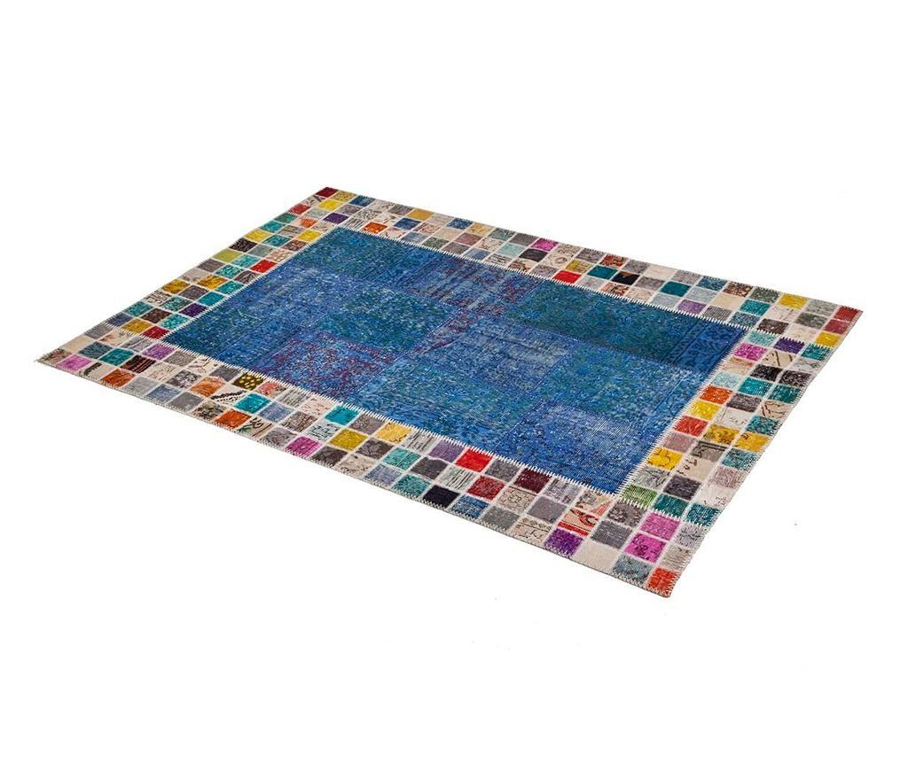 Mosaic Frame Turquoise Szőnyeg 80x150 cm