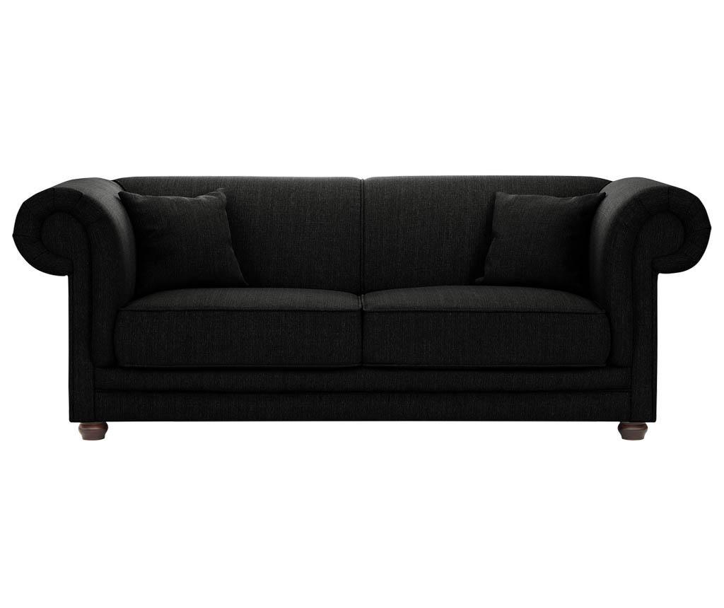 Canapea 3 locuri Aubusson Black