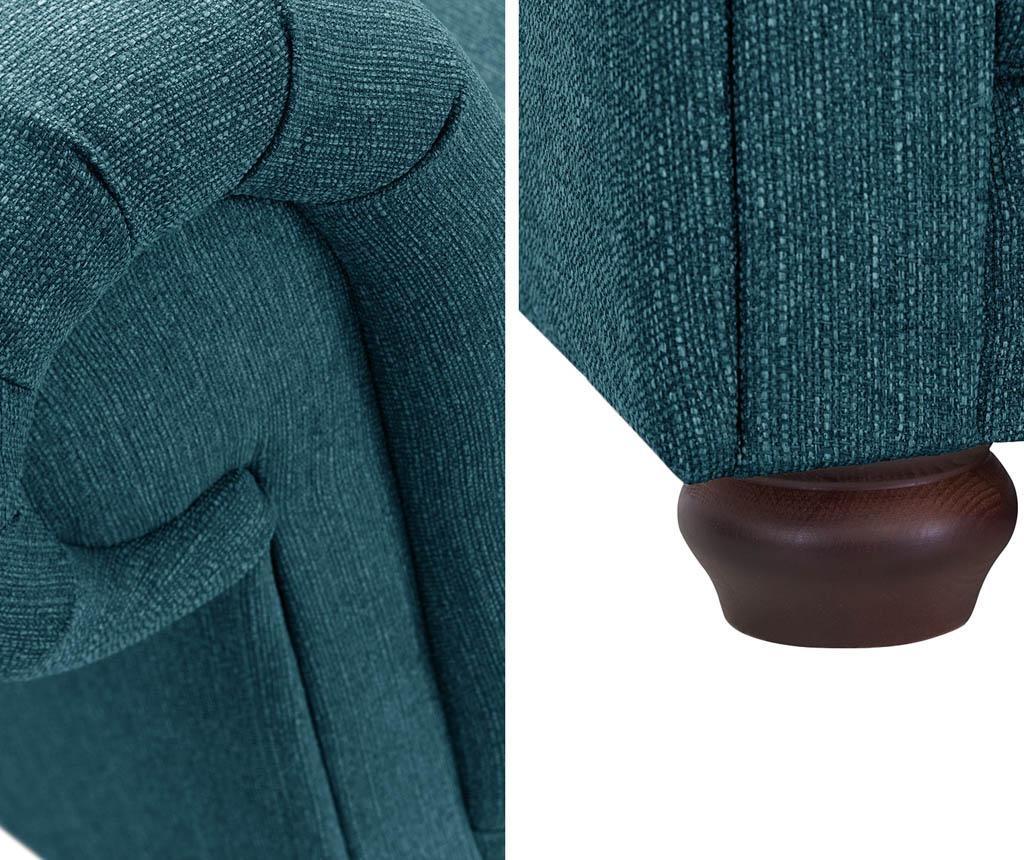 Canapea 3 locuri Aubusson Turquoise