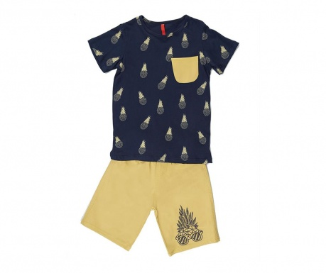 Set tricou si pantaloni pentru copii Pineapple 8 ani