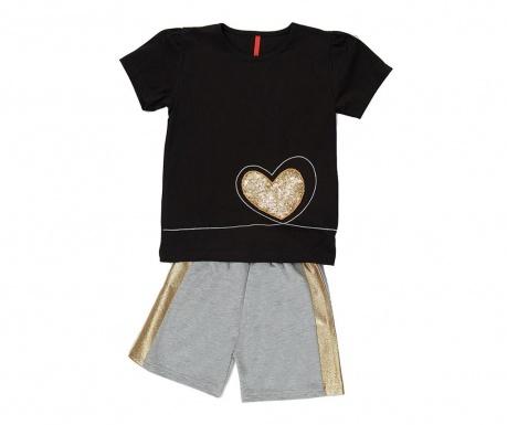 Otroški komplet - majica s kratkimi rokavi in hlače Golden Heart 7 let