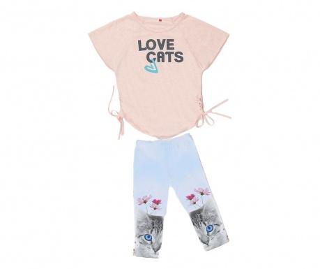 Sada tunika a legíny pre deti Love Cats