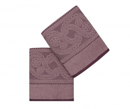 Sada 2 ručníků Hurrem Lilac 50x90 cm