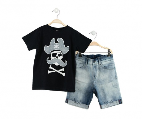 Pirates Jean Gyerek póló és rövidnadrág