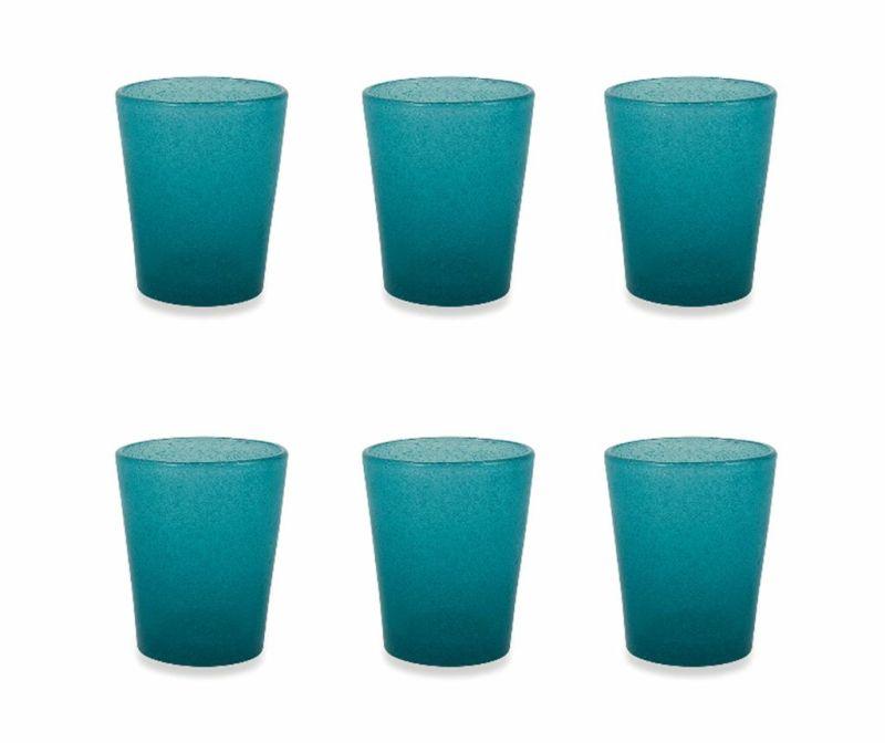 Сервиз 6 чаши за вода Cancun Satin Tiffany Blue 330 мл