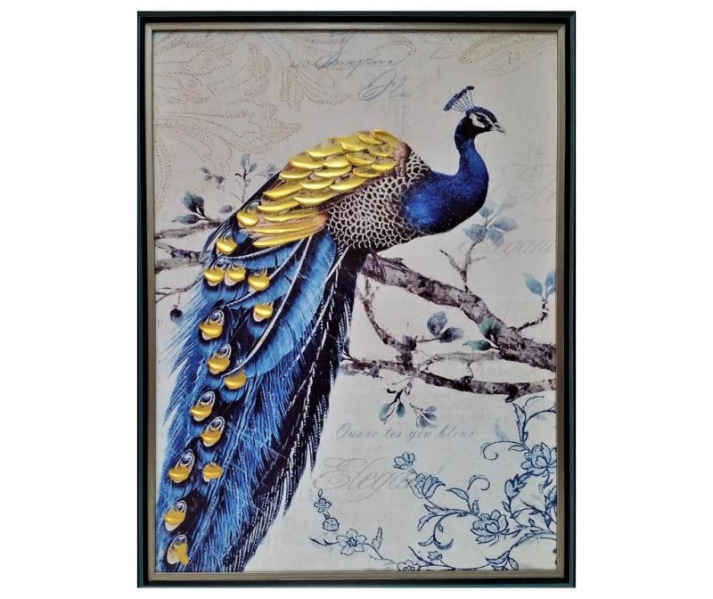 Obraz Golden Peacock 63x83 cm