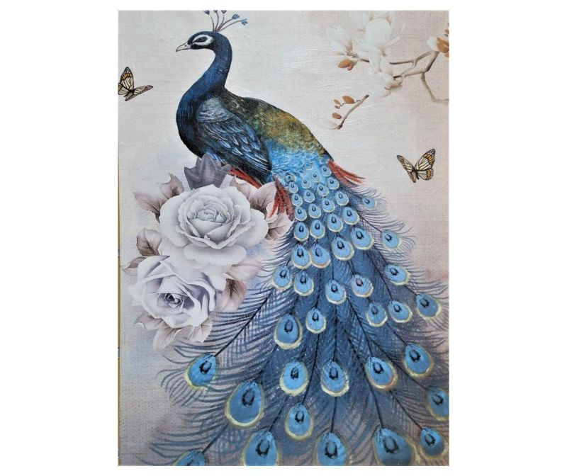 Obraz Peacock Blue 50x70 cm