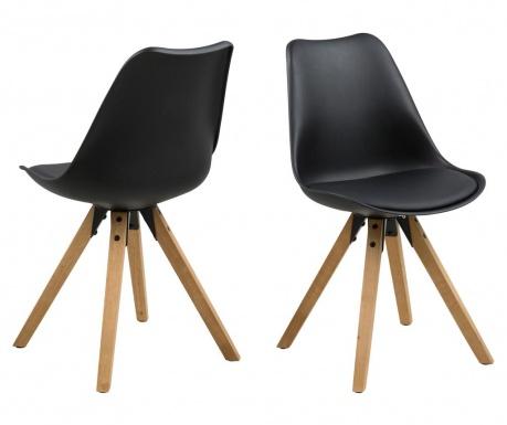 Sada 2 židlí Dima Black
