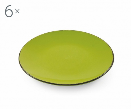 Sada 6 talířů na dezert Baita Green