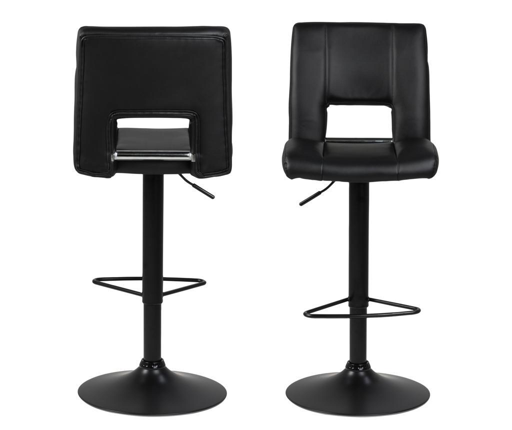 Set 2 barske stolice Sylvia Black