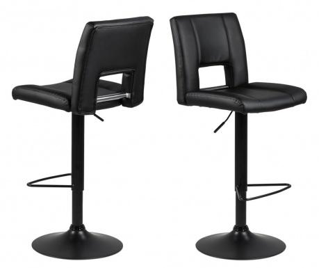 Sada 2 barových stoličiek Sylvia Black