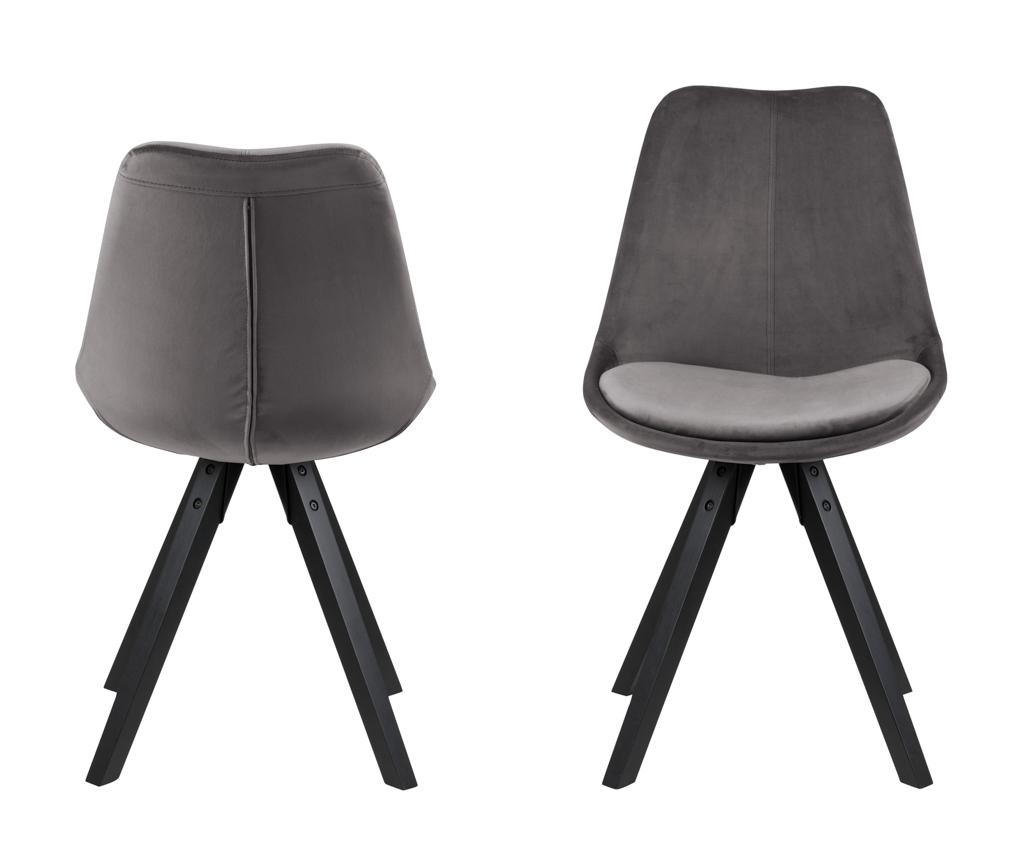 Set 2 stolice Dima Black Grey