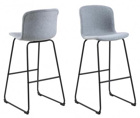 Sada 2 barových židlí Story Black