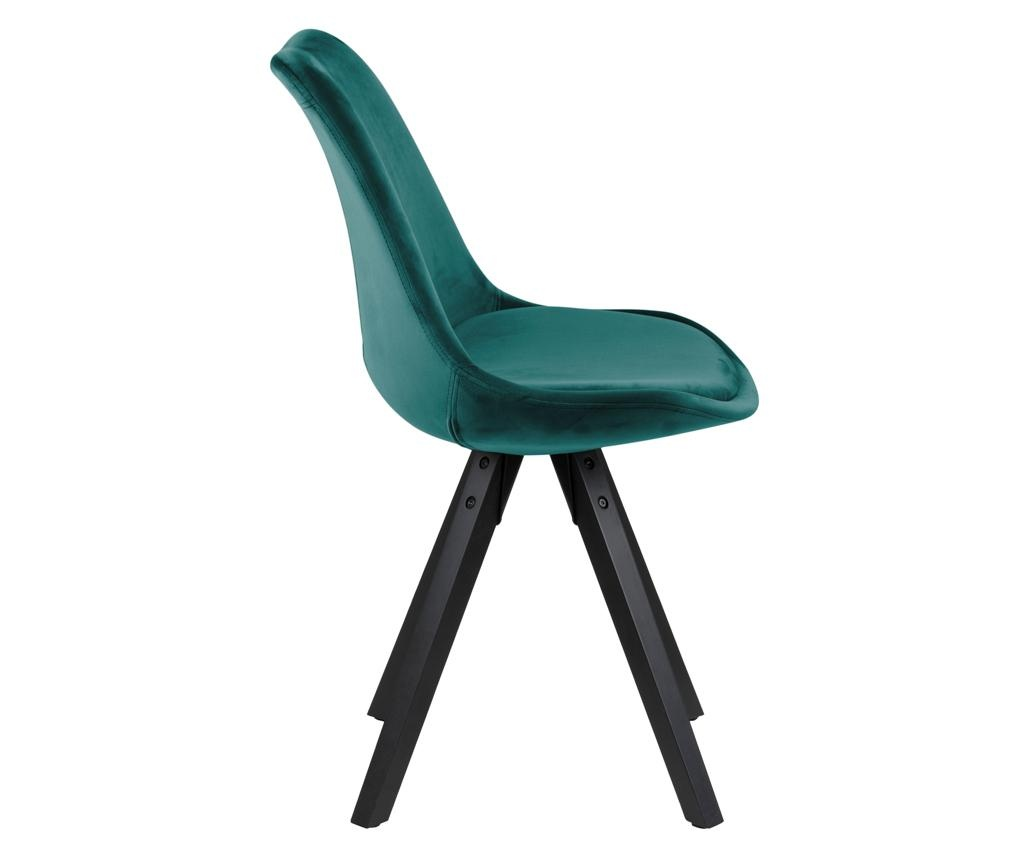 Set 2 stolice Dima Black Green