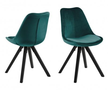 Sada 2 židlí Dima Black Green