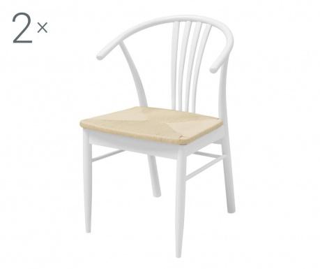 Sada 2 židlí York White