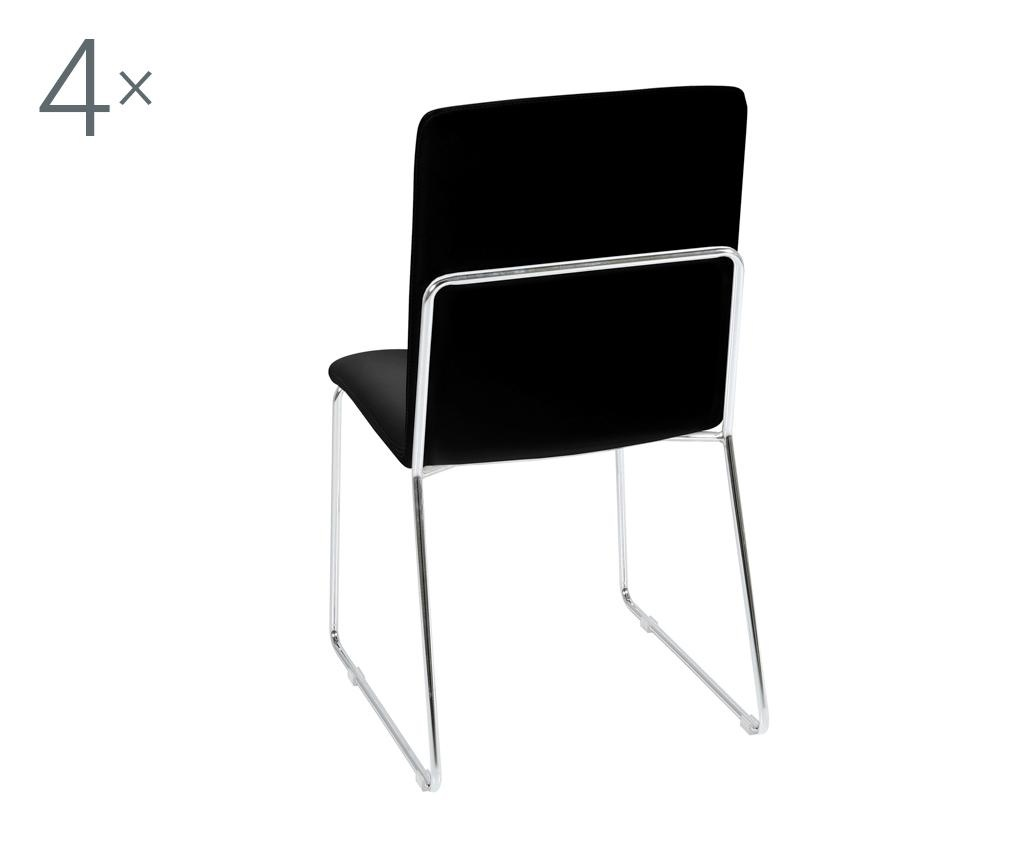 Set 4 stolice Kitos Black