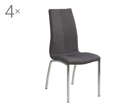 Sada 4 židlí Asama Grey