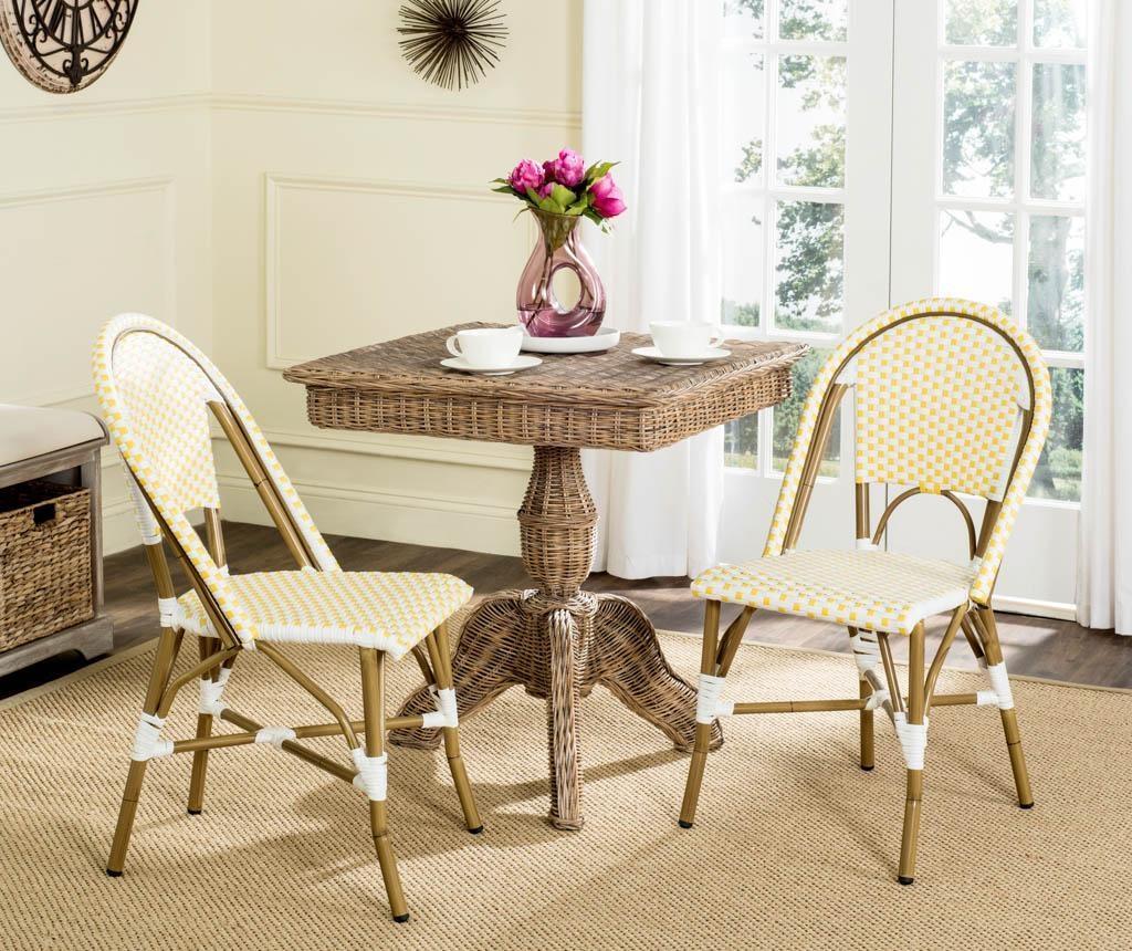 Комплект 2 стола за екстериор Adalene Yellows