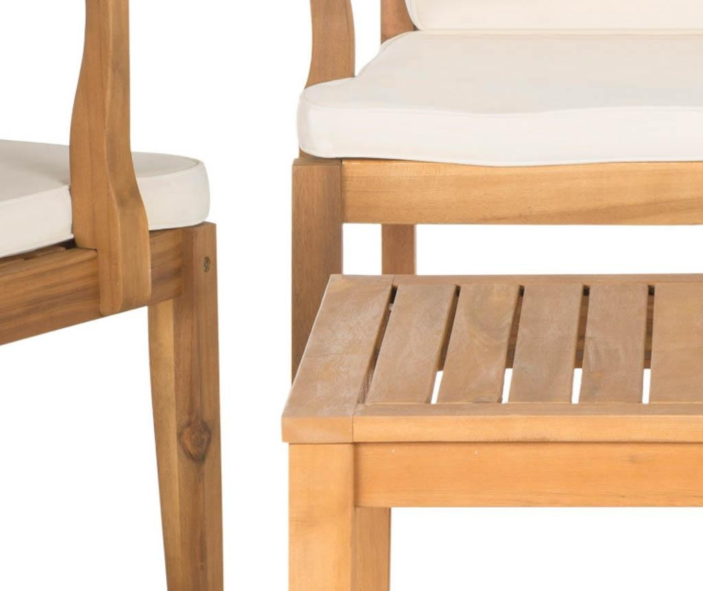 Set vrtna miza, 2 stola in 1 klop Lugano