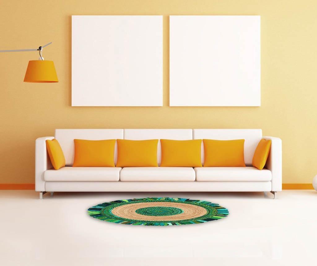 Frenzy Circle Green Szőnyeg 120 cm