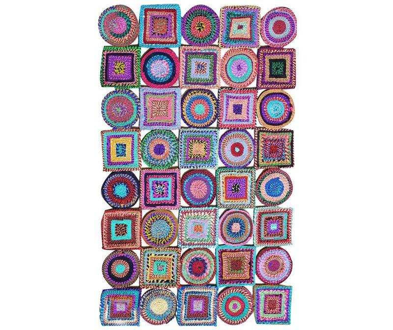 Preproga Color Rain Circle Square 80x150 cm