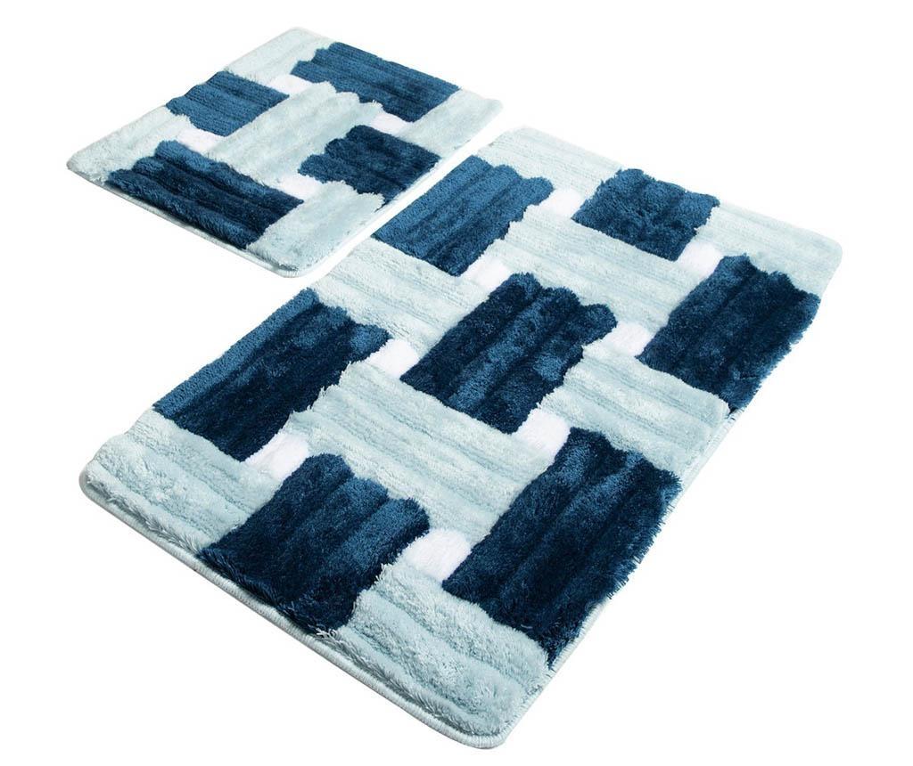 Set 2 kupaonska tepiha Marina Blue