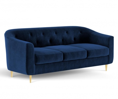 Canapea 3 locuri Corde Royal Blue