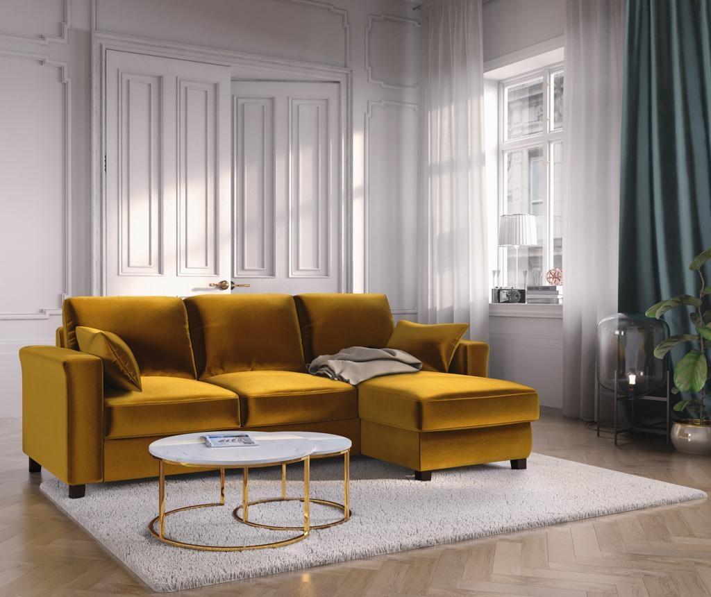 Relax Gold Megfordítható és kihúzható sarokkanapé