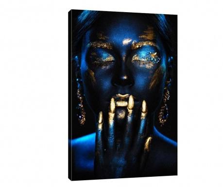 Tablou Golden Blue 100x140 cm