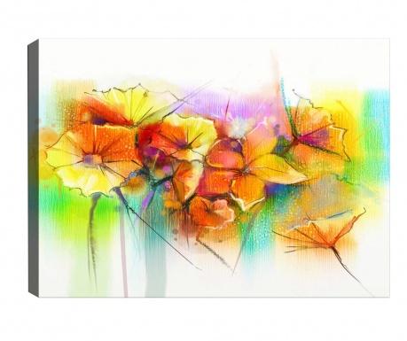 Tablou Yellow Flowers 70x100 cm