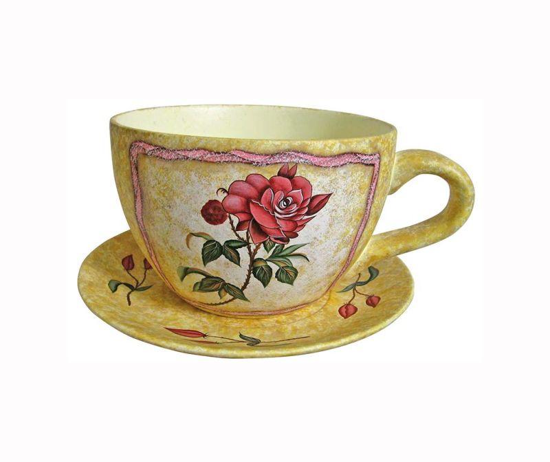 Květináč s podnosem Rose Cup