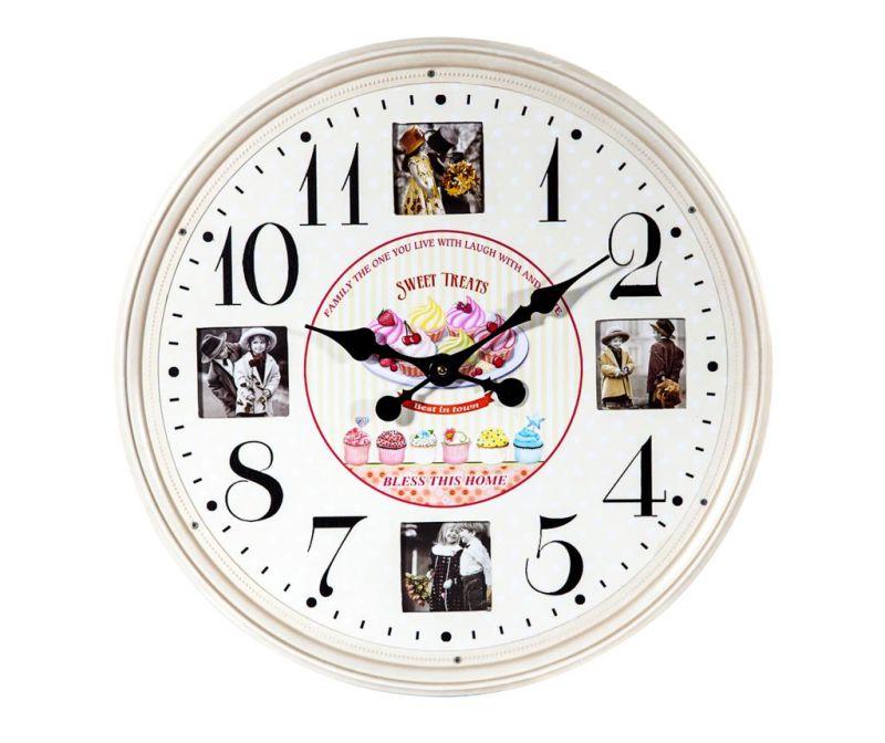 Stenska ura s foto okvirji Memories