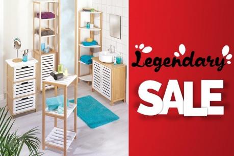 Legendary Sale: Kúpeľňa a organizovanie