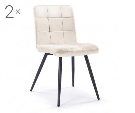 Zestaw 2 krzeseł Eloise Beige