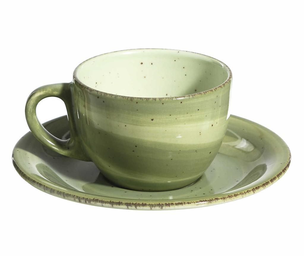 Waves Green Csésze és kistányér 180 ml