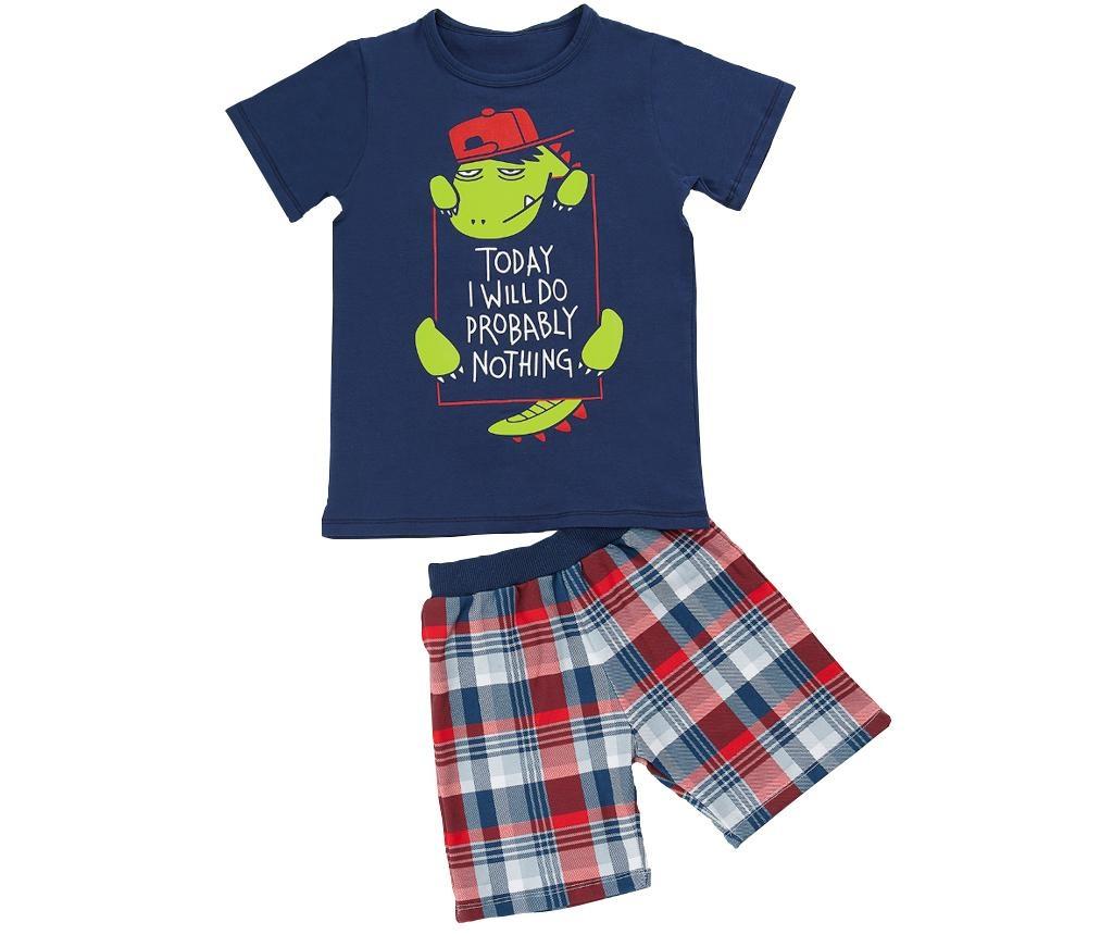 Otroški komplet - kratke hlače in majica s kratkimi rokavi Lazy Dino 2 let