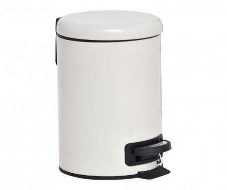 Odpadkový koš s víkem a pedálem Mat Cream 3 L