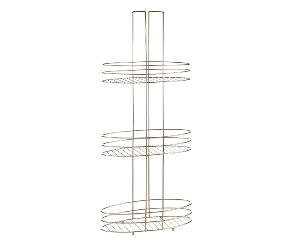 Suport accesorii de baie Vania - Premier, Galben & Auriu