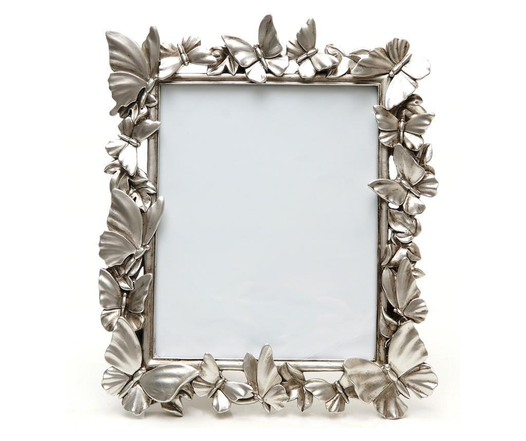 Rama foto Butterflies Silver M - Burkina, Gri & Argintiu