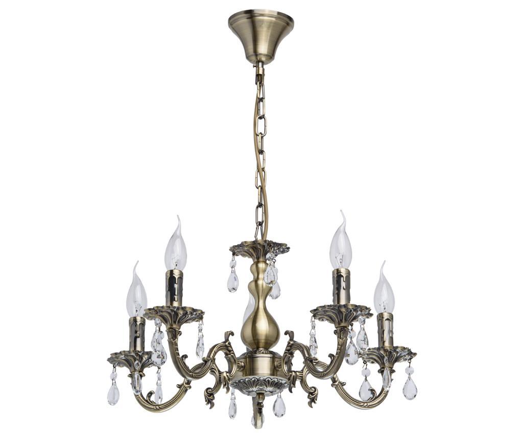 Candelabru Aurora 5 - Classic Lighting, Galben & Auriu