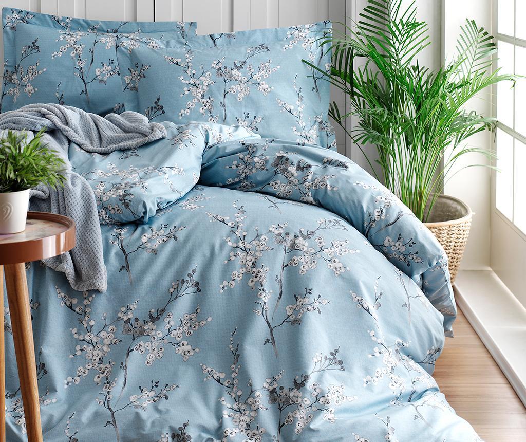 Lenjerie de pat King Ranforce Chicory Blue - Türkiz, Multicolor