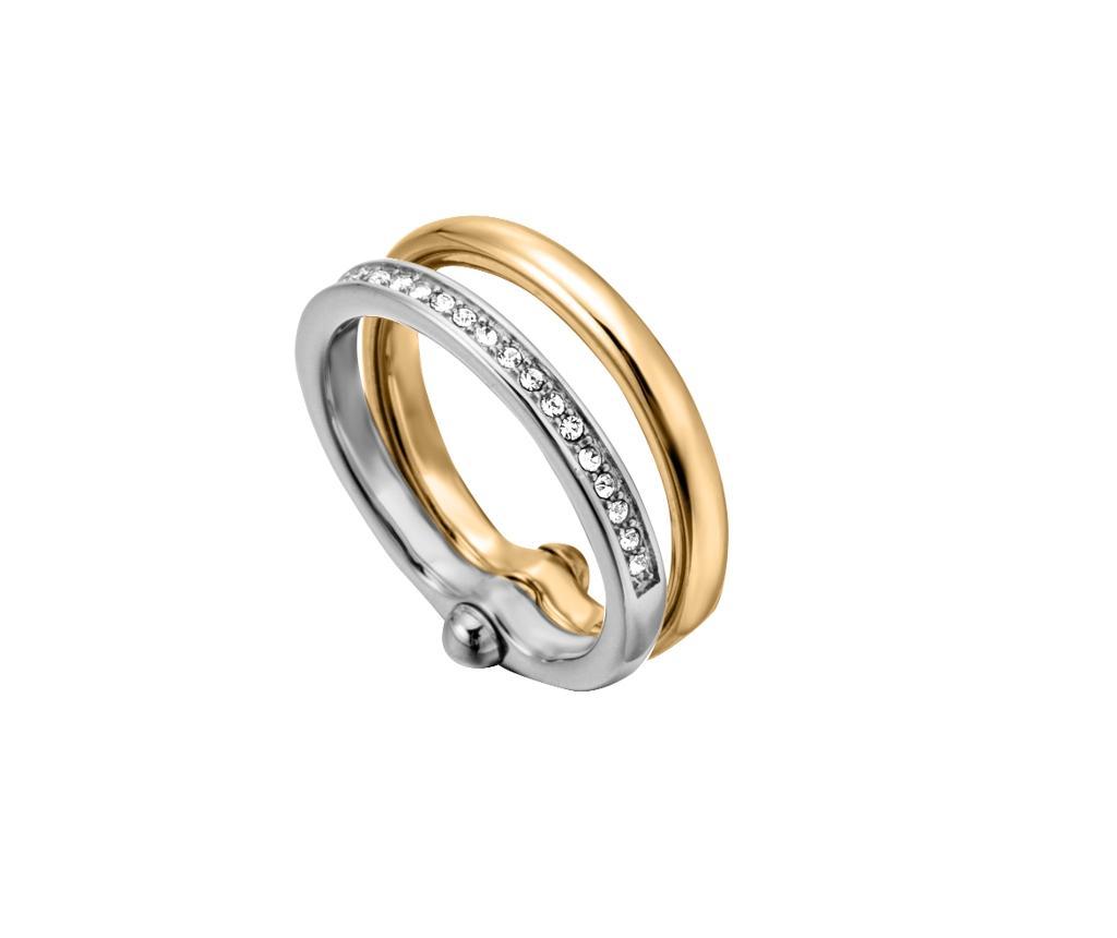 Inel Esprit Jolie Silver & Gold Tone 17 Mm