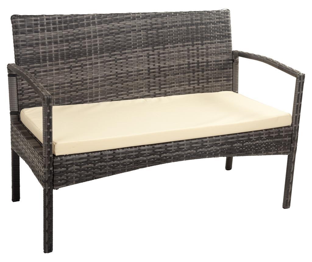 Canapea de exterior Ramy Grey - Creaciones Meng, Gri & Argintiu