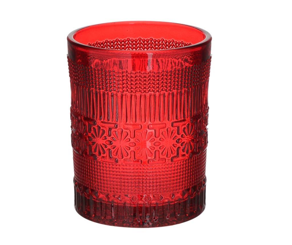Set 6 kozarcev za viski Elegance Red